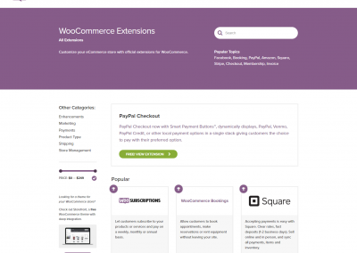 WooCommerce Extenties