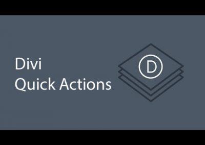 Divi builder Quick actions – Demo Tutorial